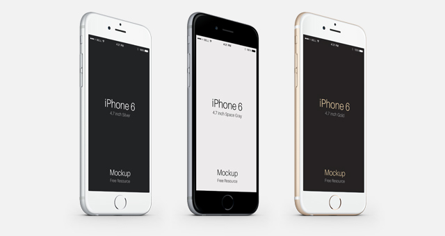 iphone 6 & ipad air psd