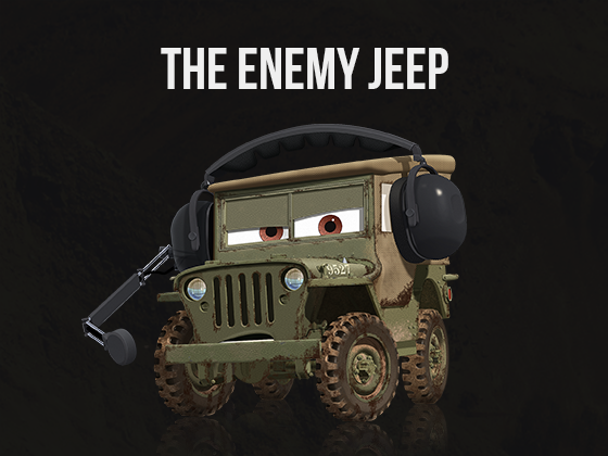 THE ENEMY JEEP