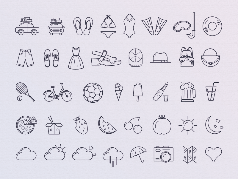 40 free summer icons
