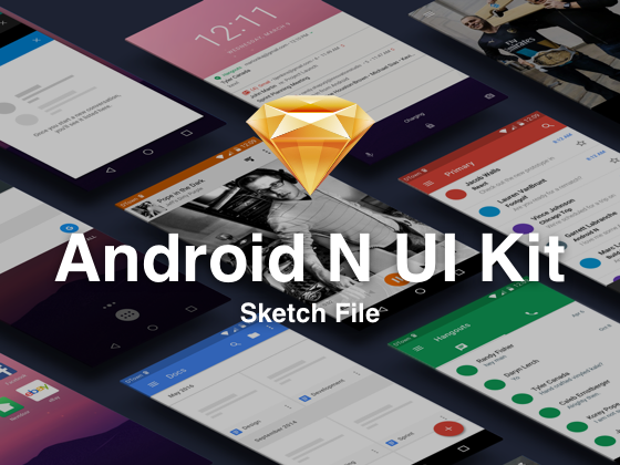 Android N UI Kit(Sketch源文件)