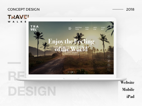 Travel Walker Website Design
