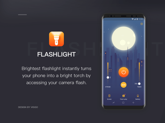 Flashlight APP UI-手电筒