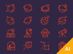 16 Ai space icons 太空图标