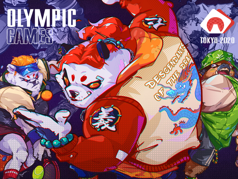 OLYMPIC 2020 series illustrati