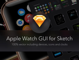 Apple Watch GUI for Sketch 1.1 更新于0424